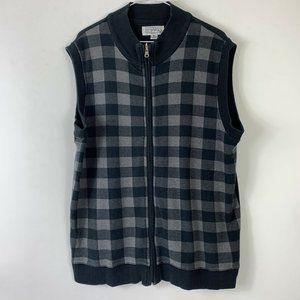 Gianfranco Ruffini Gray Zip Sweater Vest Men Sz XL